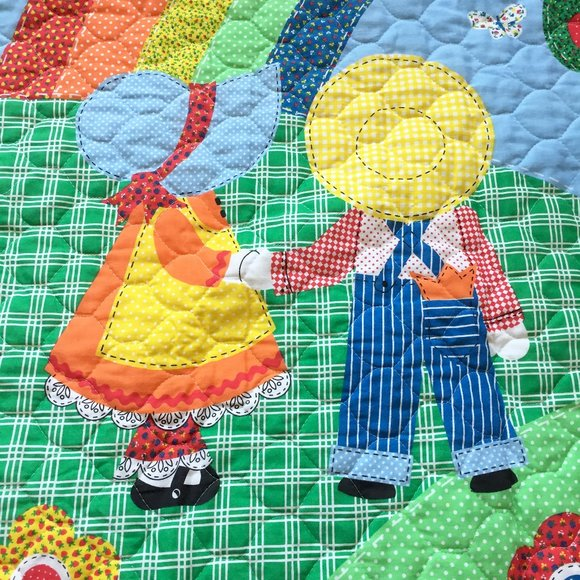 bright primary colors baby boy or girl batik quilt bedding quilts for sale Rainbow Farfale Rainbow Baby Quilt wall hanging handmade